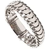 BlueFox Men's Bracelet Keel Titanium steel High polished Link bracelet pack 1 Three dimension