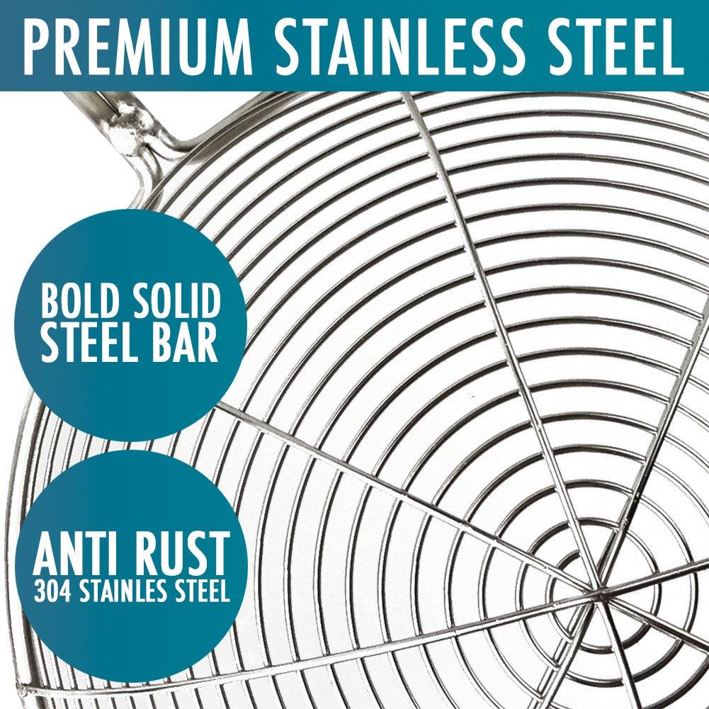 """Spider Utensil: Spider Kitchen Strainer 6.3"""" Food Skimmer Ladle Premium"""
