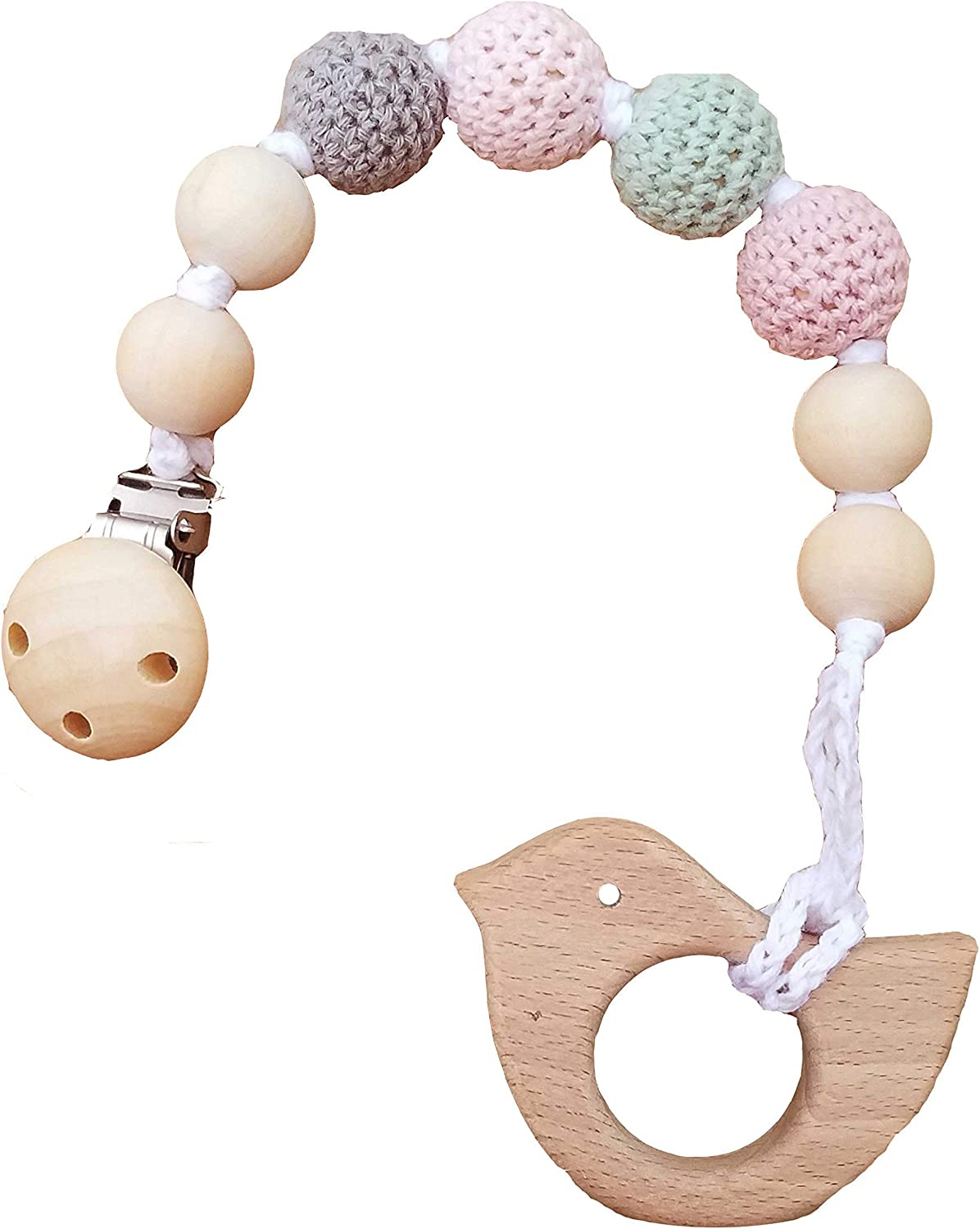 Silicone Lollipop Teether DIY Teething Baby Sensory Toys Pacifier Chain Pendant