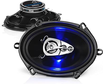 2 5x7 Car Audio Speakers.Full Range Coaxial Pair.4 ohm.OEM w// grilles.180w NEW