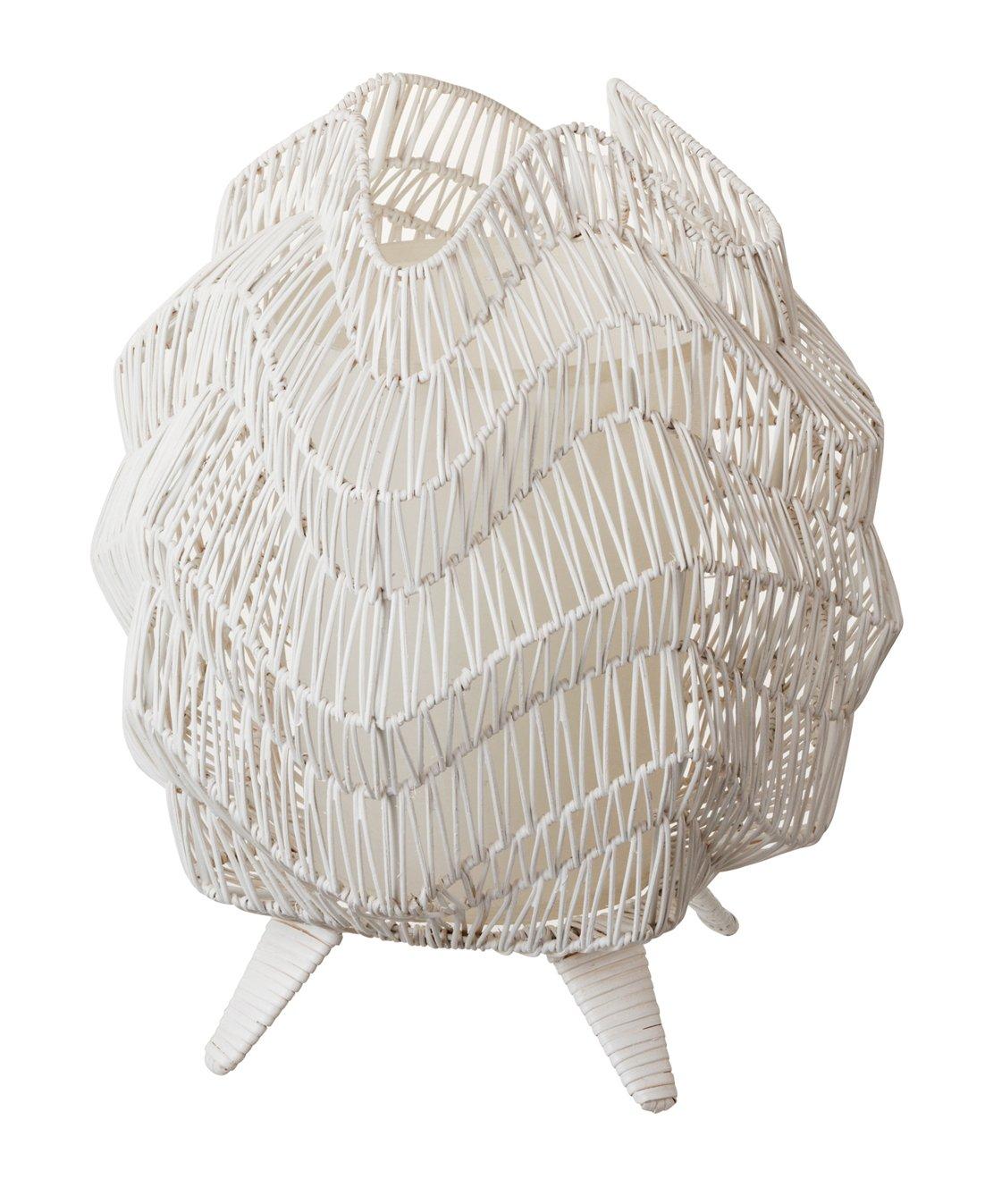 ラタンランプB ホワイト 20027 B00G3FLIDEホワイト