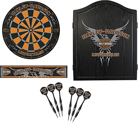 Charmant Harley Davidson 61991 Black Eagle Dartboard Cabinet Kit