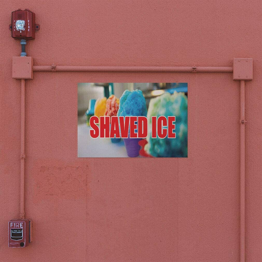 Decal Sticker Shaved Ice #1 Style B Retail cold dessert Outdoor Store Sign blue-36inx24in