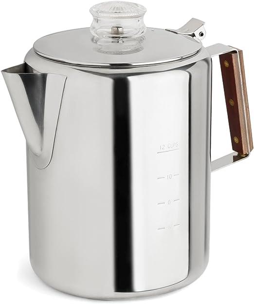 Amazon.com: Cafetera eléctrica Tops 55705, acero ...