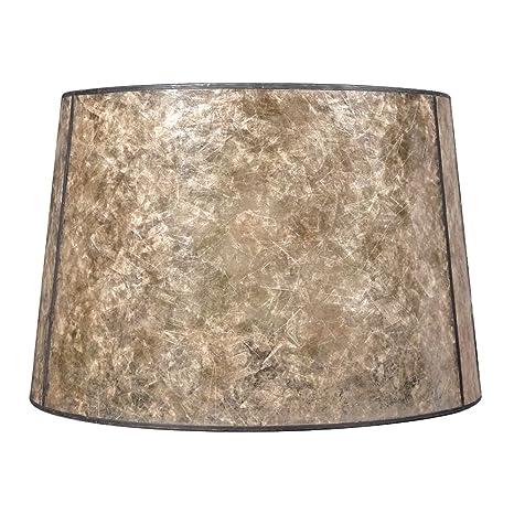 Blonde mica drum lamp shade with bronze spider assembly lampshades blonde mica drum lamp shade with bronze spider assembly aloadofball Image collections