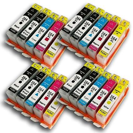 AA + tintas compatibles HP 364 cartuchos de tinta con chip ...