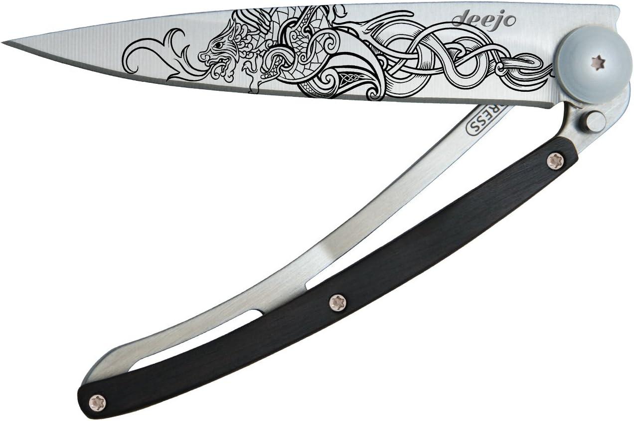 Cuchillo Vikingo Dragon Tattoo Deejo grenadille: Amazon.es ...