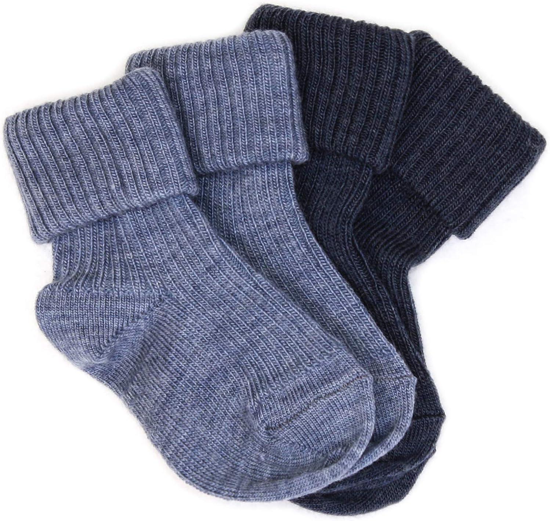 Wool Baby Socks from Woolino, Washable Merino Wool Infant Toddler Kids Socks, Newborn to 4 Years (Pack of 2)