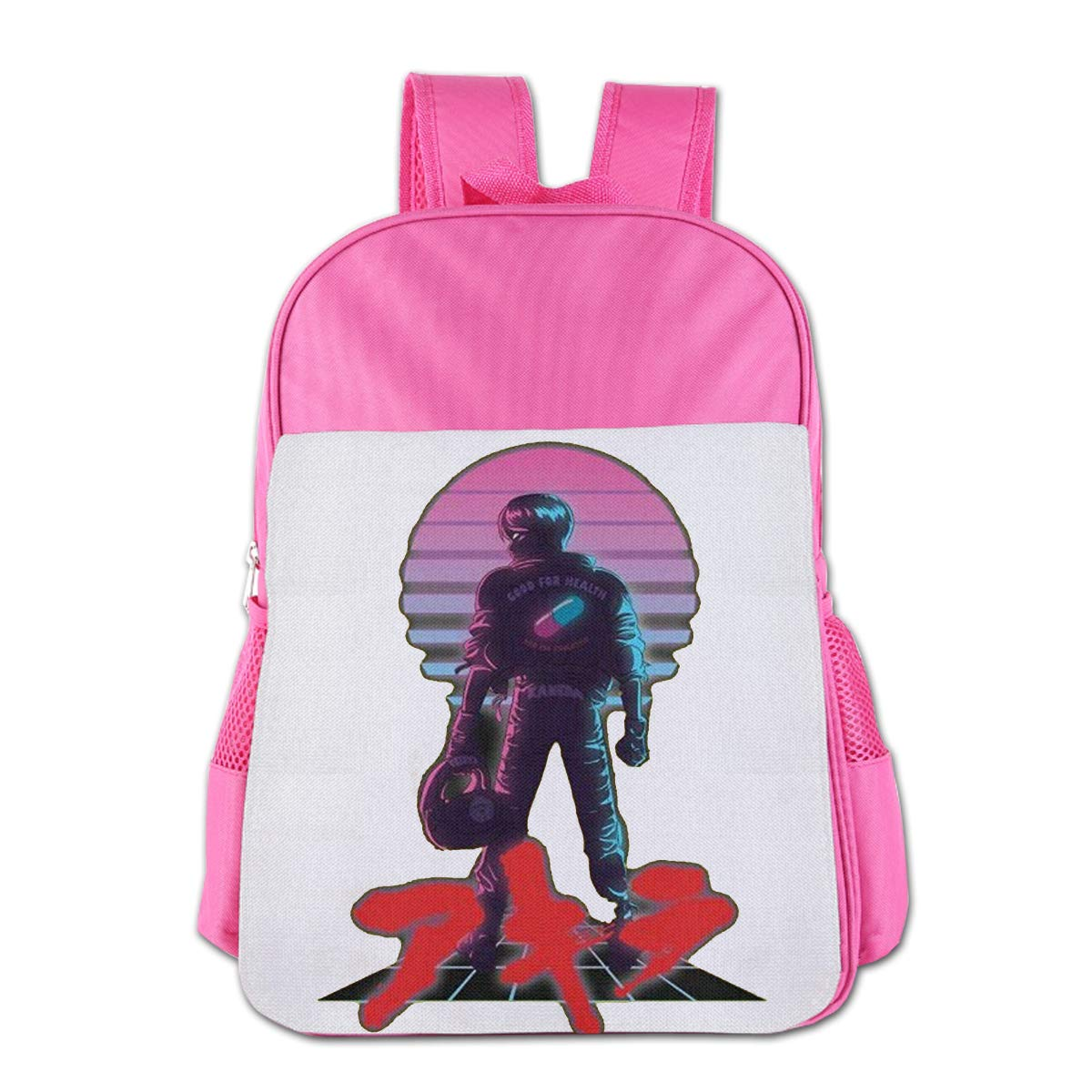 VAIJIAMAOYI 子供用スクールバッグ ヨーロッパとアメリカのパーソナリティ Akira - 80年代風 カネダ 子供用スクールバッグ ブルー One Size ピンク B07NQB5TYW