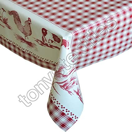 Various Polyester Tablecloth Wipe Clean Wipeable Party Outdoor Kids Kitchen