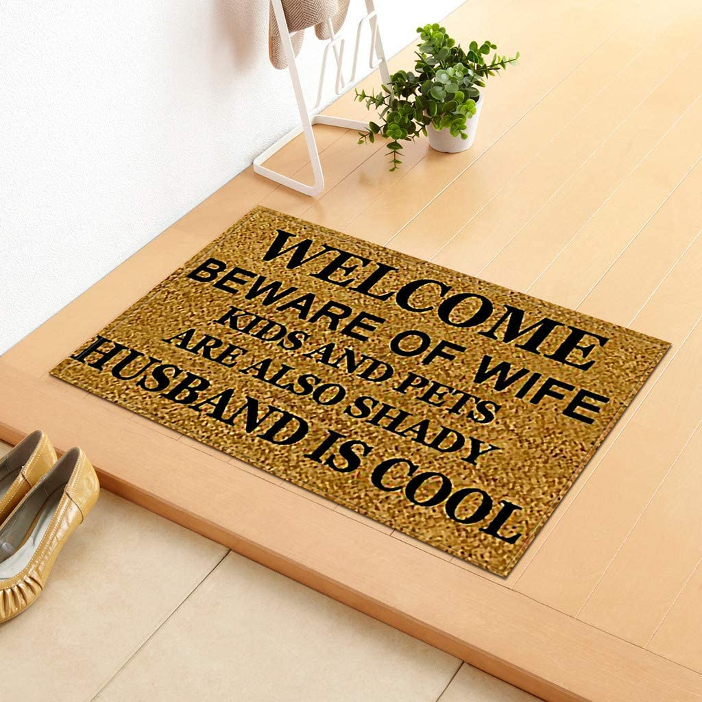 Iuhan Water Absorbent Pad Soft Anti-skid Carpet Living Room Bedroom Shaggy Carpet Rug Area Mat Cover Clearance Sale Inddor//outdoor Welcome Doormats A