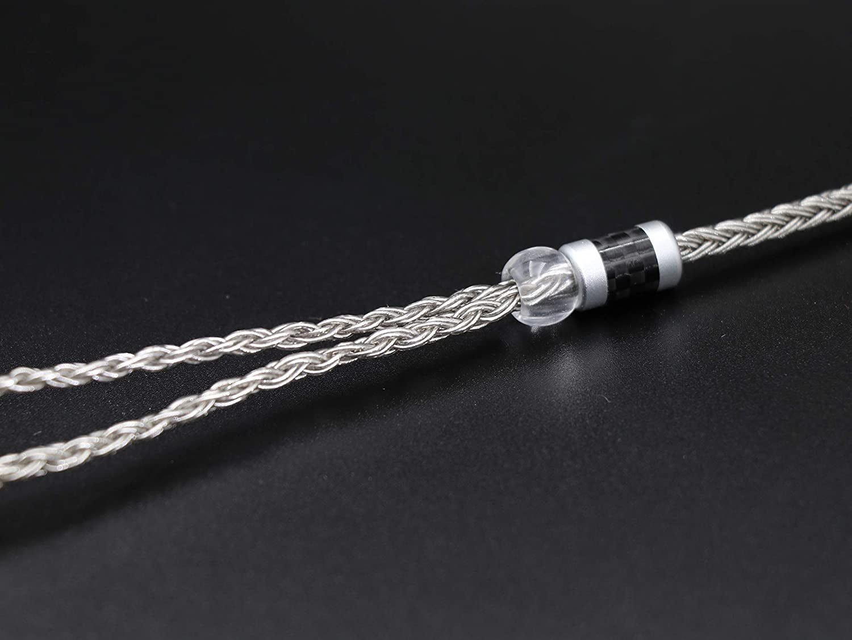 MMCX-2.5mm, Grey Linsoul Tripowin Zonie 16 Core Silver Plated Cable SPC Earphone Cable for TIN Audio T2 T3 UE900s SE215 SE425 BGVP Earphones
