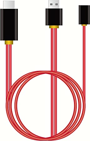 MiraScreen HDMI USB Cable Adaptador Cable de Carga 3 ft/1 m para ...