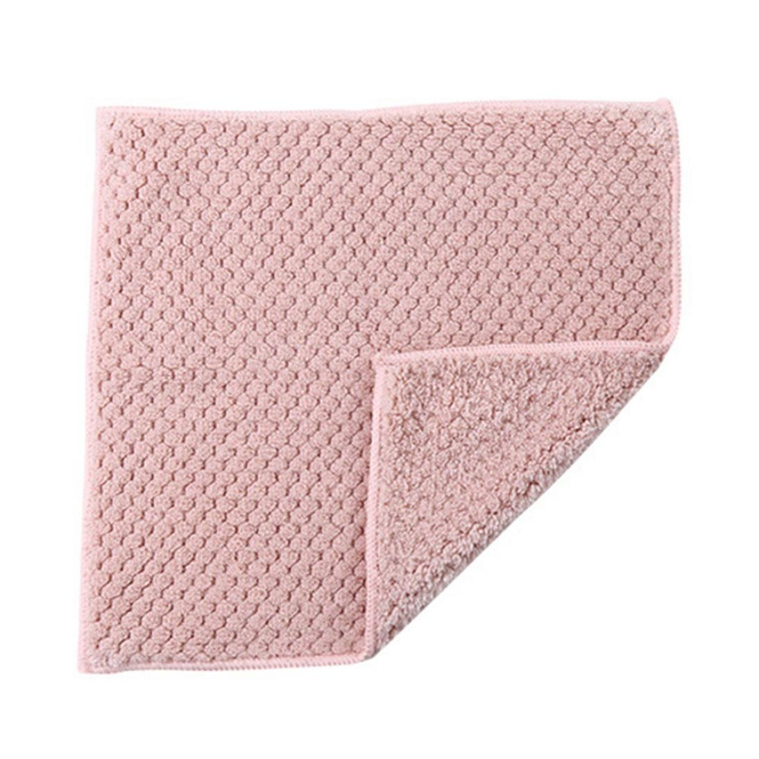 Clearance Sale!DEESEE(TM)Nonstick Oil Coral Velvet Hanging Hand Towels Kitchen Dishclout (Pink) by DEESEE(TM)_Home (Image #1)