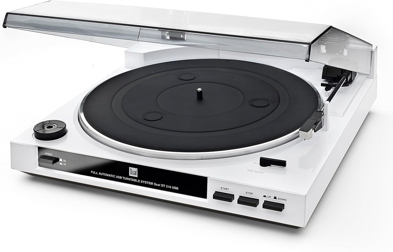 Dual DT 210 USB - Tocadiscos para equipo de audio, blanco: Amazon ...