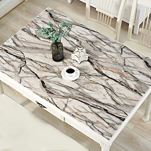 Cocina Mantel, PVC Transparente Mantel Impermeable Anti Escaldado ...