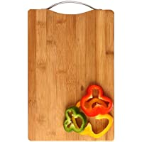 Absales Large Non-slip Wooden Bamboo Cutting Board with Antibacterial Surface and Finger Hole