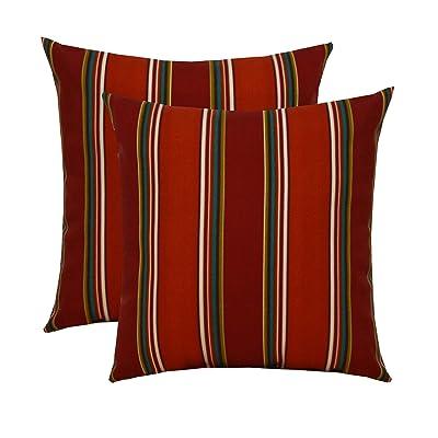 "RSH Décor Set of 2 Indoor/Outdoor Square Throw Pillows (17""x17"") Bonfire Sierra : Garden & Outdoor"