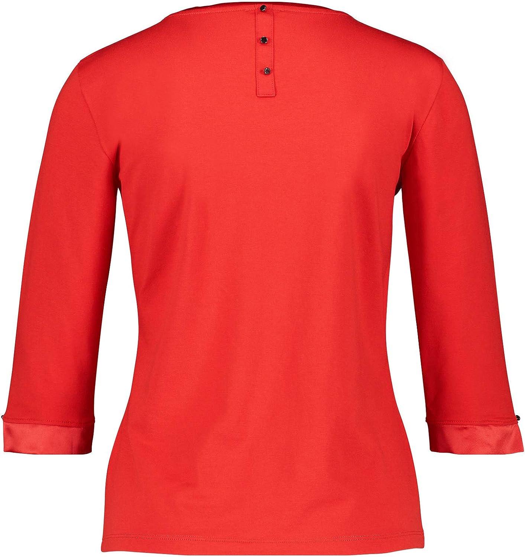 Talla del Fabricante: 44 para Mujer Rojo 46 Gerry Weber 270248-35048 Camisa Manga Larga Rot 60659