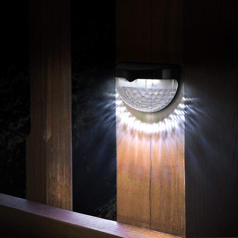 Mandii LED Solar Wall Light Fence Light Solar Light Outdoor Waterproof Garden Step Lights by Mandii (Image #3)