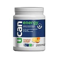 UCAN Energy Powder - Pre Workout & Post Workout Supplement for Men & Women - No Added Sugar, Non-GMO, Vegan, Gluten Free, Keto Friendly - Long Lasting, No Crash - 30 Servings - Tropical Orange