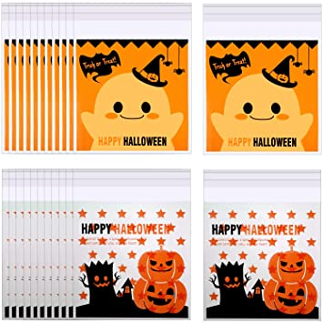 400 Pedazos Halloween Bolsas de Celofán Bolsas de Caramelo ...