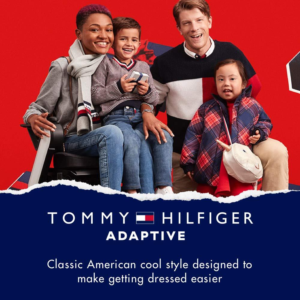 Tommy Hilfiger Girls Adaptive Sweatshirt with Velcro Brand Closure