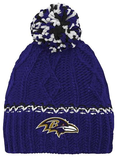 6c8c5b0b Outerstuff NFL Girls 716 Cable Knit Rib Cuffless Hat