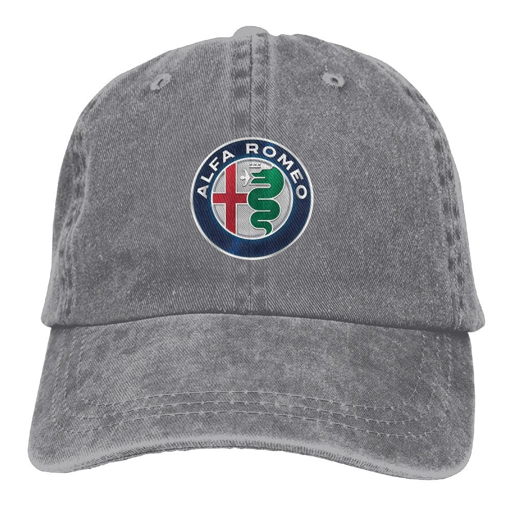 SumiDom Alfa Romeo Unisex Adult Baseball Cap Trucker Hat Cowboy Hat Hip Hop Sports Snapback