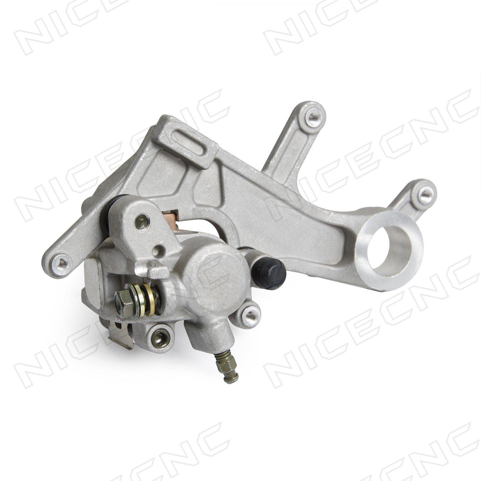 NICECNC Rear Brake Caliper Assembly for CRF450R A 2002-2007 CRF450X A/AC 2005-2006 CRF250R/450R 2A CRF450R 2A/A 2008 CRF450R/450X AC 2012-2016