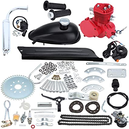 8c7caf930d7 Amazon.com: Sange 2 Stroke Pedal Cycle Petrol Gas Motor Conversion Kit Air  Cooling Motorized Engine Kit for Motorized Bike (80cc Red): Automotive
