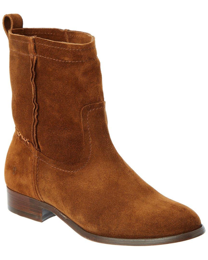 FRYE Women's Cara Short Suede Boot, Wood, 7 M US