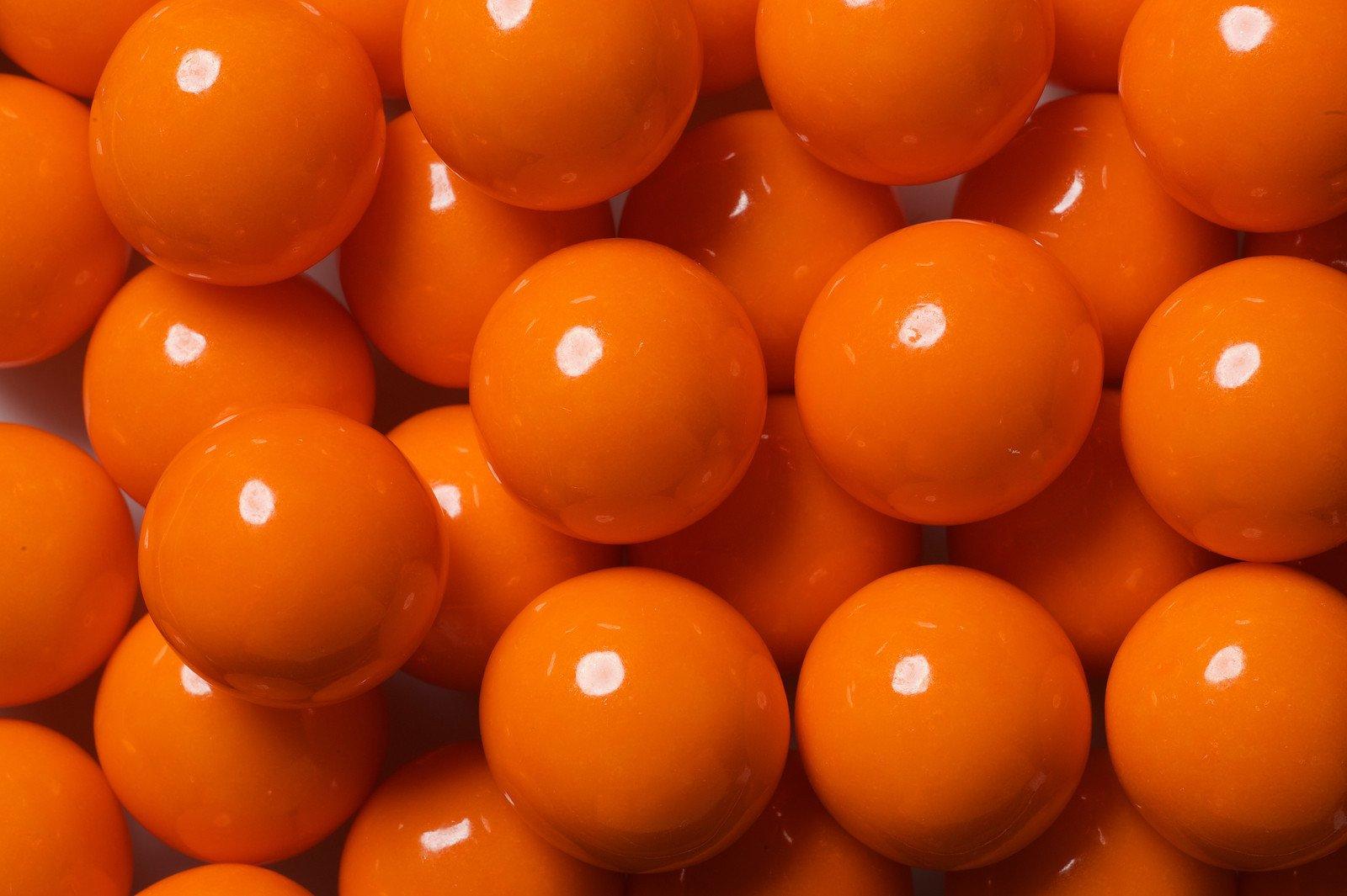 Candy Shop Orange 1-Inch Gumballs 1 Pound Bag