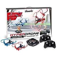 SilverLit - 84775 - Drones de Course multijoueurs - Hyperdrone Champion Kit - 4 Canaux Gyro -2,4 Ghz