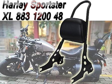 E Most Motorrad Scrub Sissy Bar Verstellbar Abnehmbare Massiv Stahl Hinten Beifahrer Rückenlehne Für Harley Sportster Xl 883 1200 48 Auto
