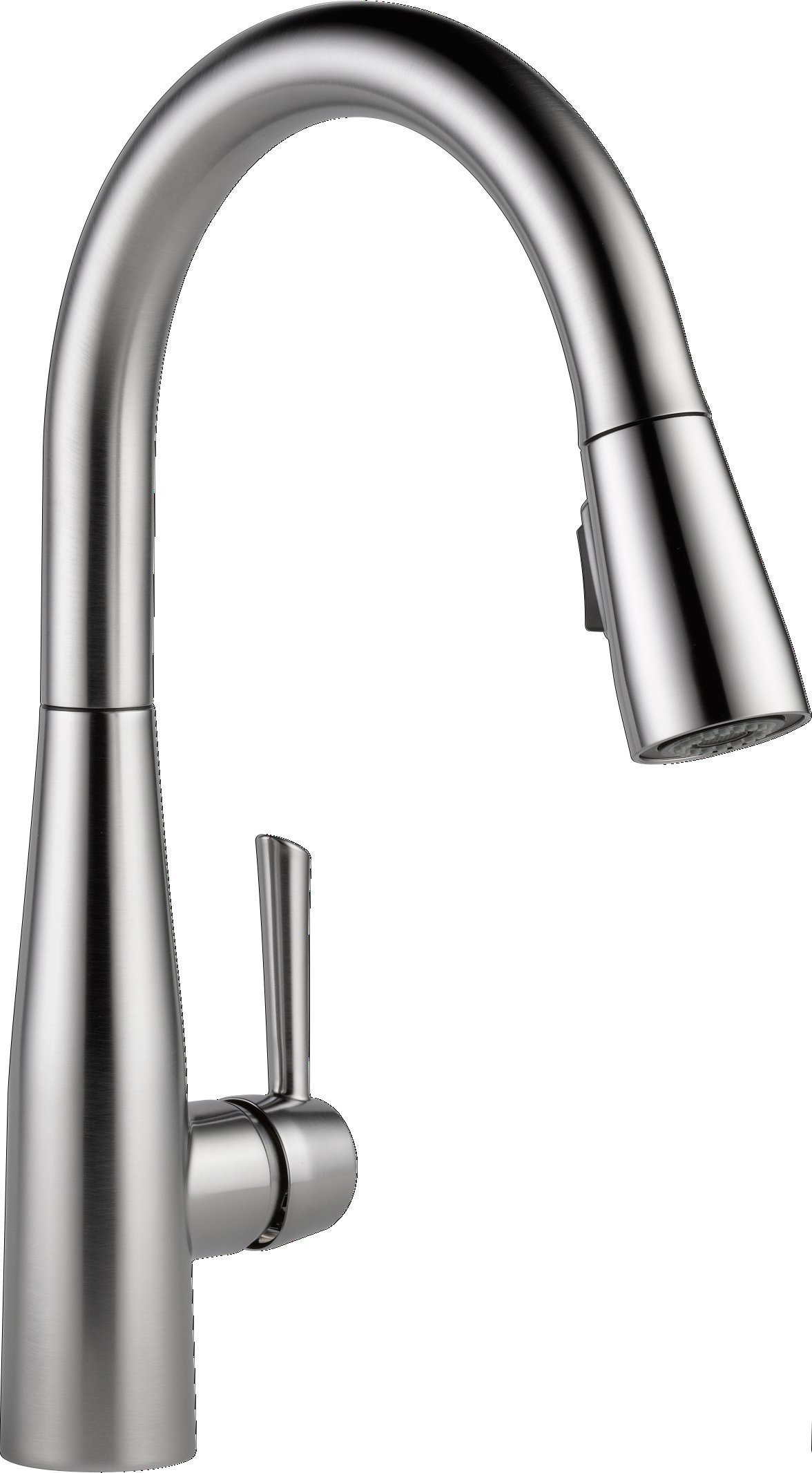 Delta Faucet Essa Single-Handle Kitchen Sink Faucet with Pull Down Sprayer and Magnetic Docking Spray Head, Arctic Stainless 9113-AR-DST by DELTA FAUCET