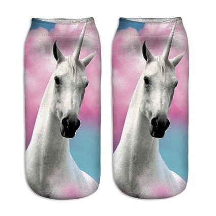 Calcetines tobilleros deportivos, de la marca Jysport, con estampado de unicornio, 3D big