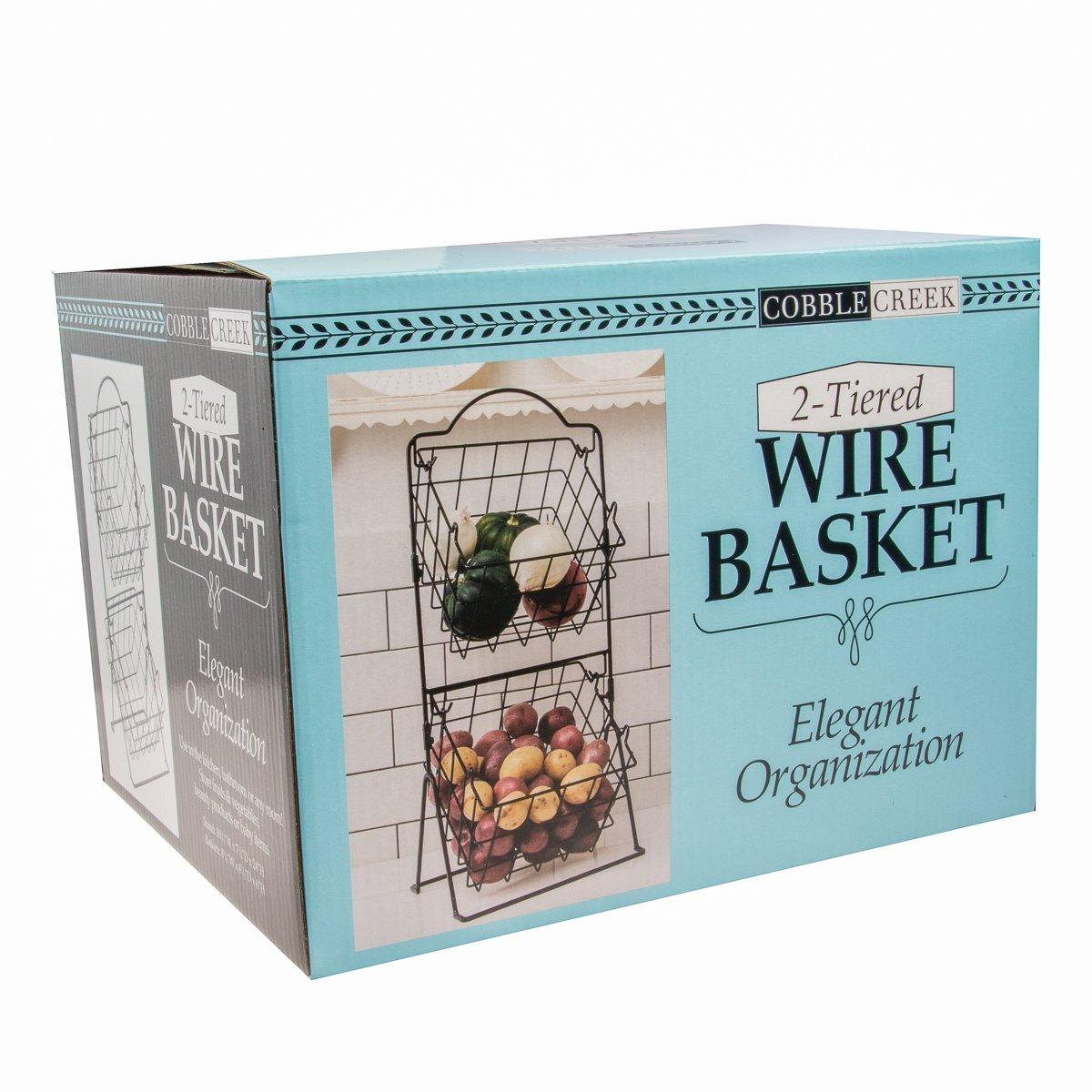 Amazon.com: Cobble Creek Wire Baskets –Display Countertop Organizer ...