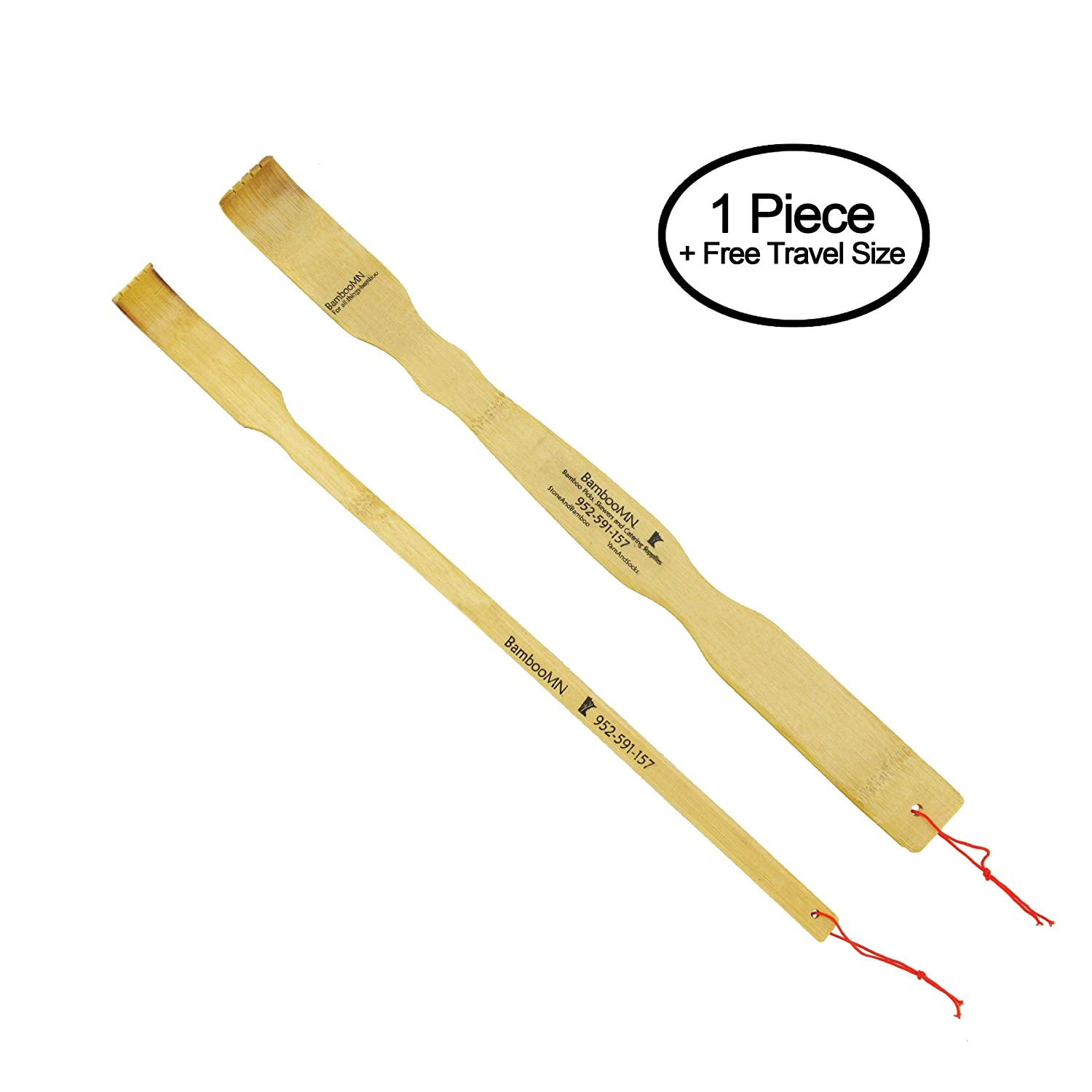 BambooMN Brand - 17 Bamboo Backscratchers + Free Travel Size Backscratcher t02-5001