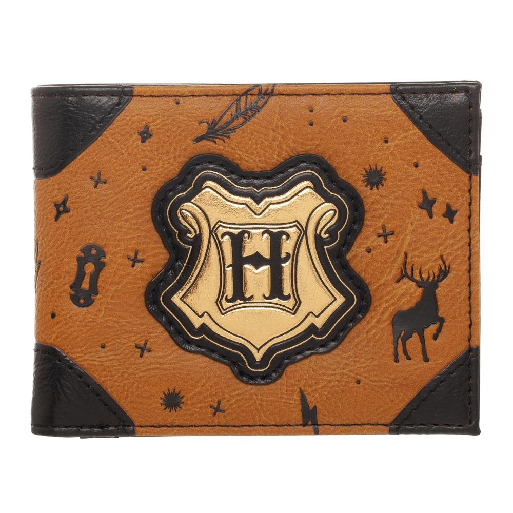 Bioworld - Harry Potter - Hogwarts Crest Bifold Wallet - Faux Leather