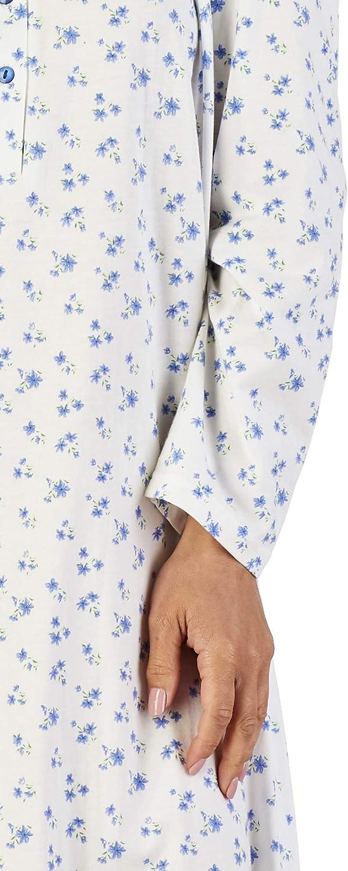Slenderella Ladies lusso 50 o 127 centimetri lungo Ditsy cuore 140GSM stampa 100/% cotone morbido Jersey stile classico camicia da notte taglia piccola media grande XL XXL e XXXL