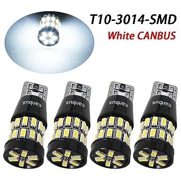 taben T10 LED luz bombilla Canbus, 6 W LED Canbus T10 30 – 3014smd 12