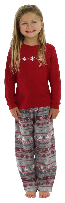 SleepytimePjs Kids Flannel Christmas Pajamas Pj Sets