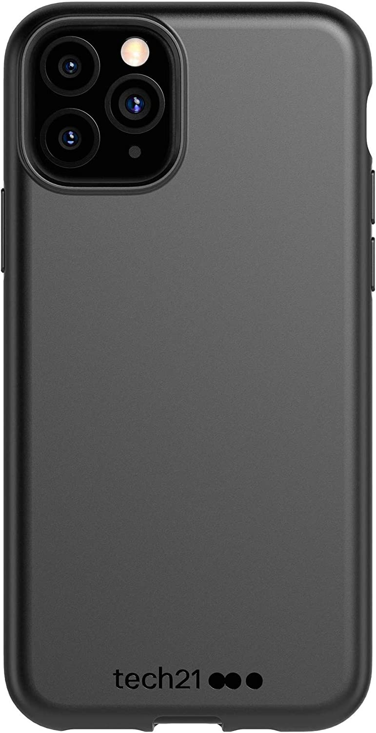 tech21 Studio Colour Mobile Phone Case - Compatible with iPhone 11 Pro Max - Slim Profile with Anti-Microbial Properties and Drop Protection, Black