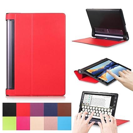 Caso Lenovo Yoga Tab 3 Plus/Pro, de pies cubierta para Flip ...