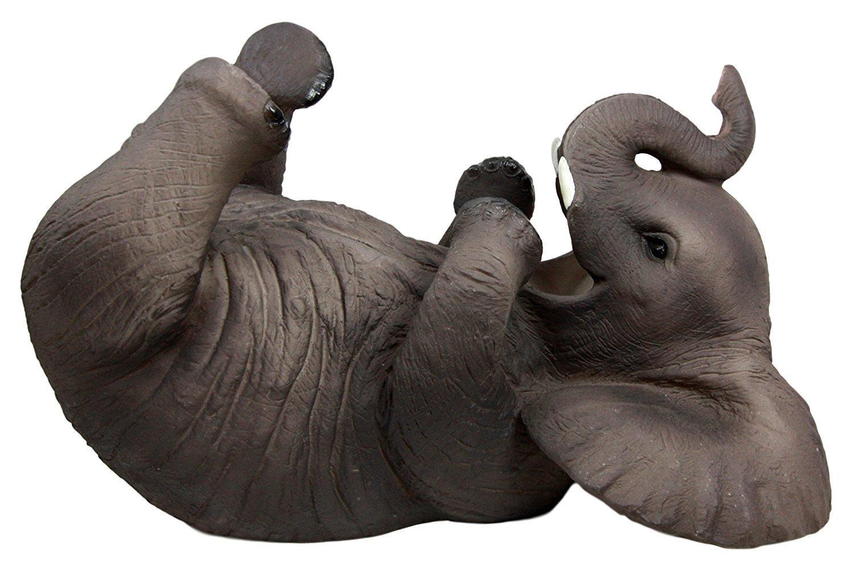 Ebros Kitchen Decor Playful Safari Elephant Wine Bottle Holder Figurine Animal Savanna Oil Wine Valet Storage With Pachyderm Elephant Theme by Ebros Gift (Image #2)