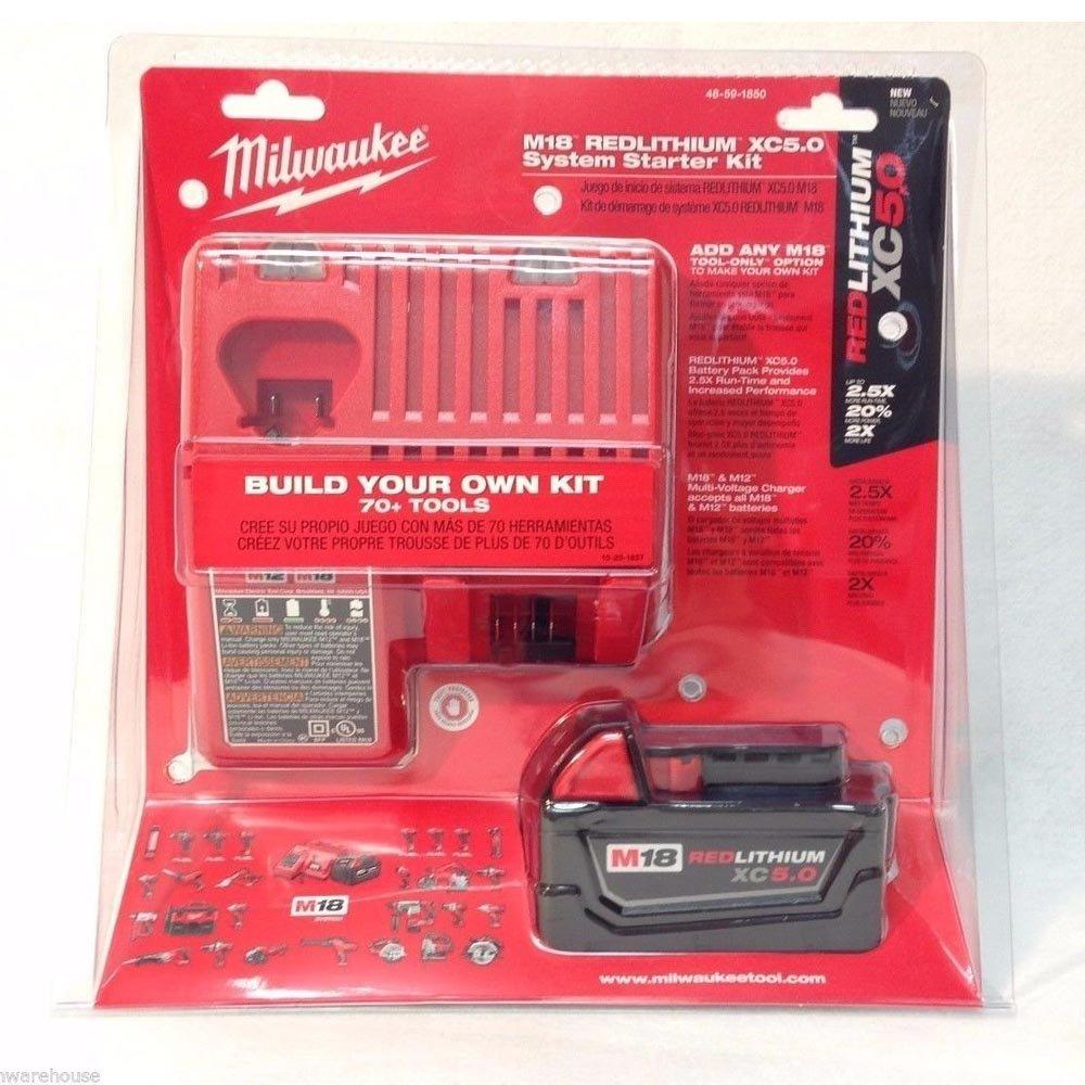 Milwaukee 48-59-1850 M18 Xc 5.0 Starter Kit by Milwaukee