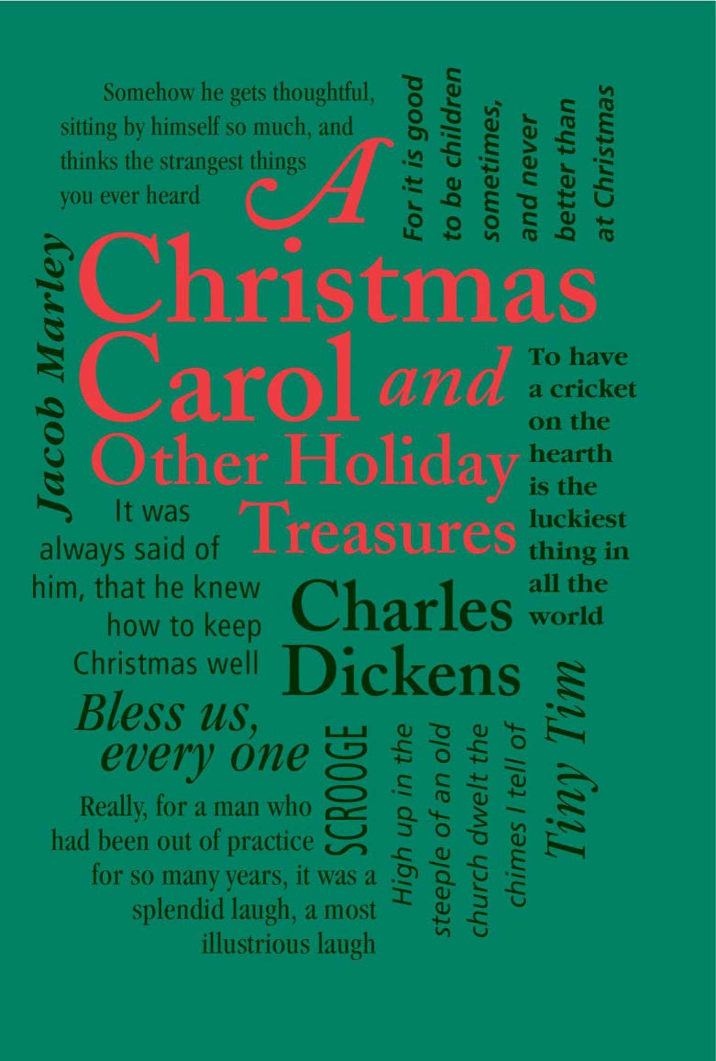 Image result for a christmas carol and other holiday treasures word cloud classics book cover