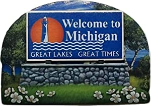 Michigan State Welcome Sign Wood Fridge Magnet 2