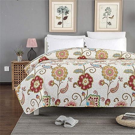 ADGAI Cubrecama Colcha para Sofa Cama 135 o 150 Reversible nordica bouti de piqué de Material 100% Algodón de 230 * 250cm Patrón Cuadrado: Amazon.es: Hogar